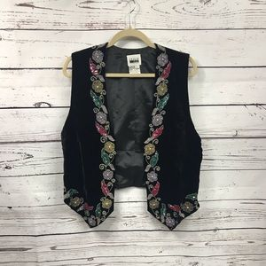 New vintage sequin velvet vest
